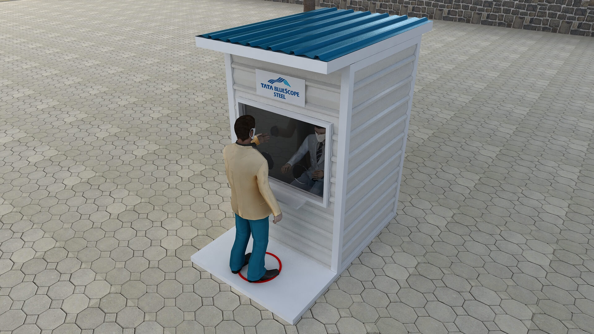 a testing & sample collection kiosk