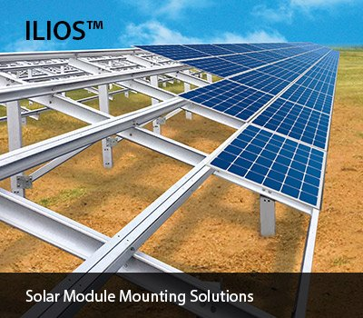 ilios offers solar module mounting solutions