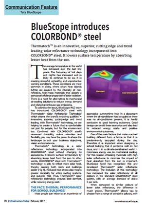 Tata bluescope steel introduces colorbond steel