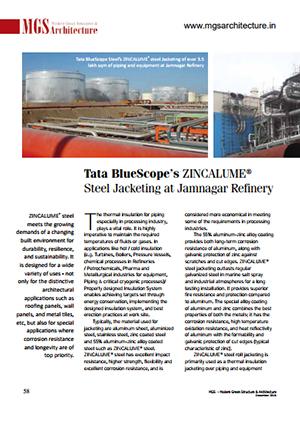 Tata bluescope zincalume steel