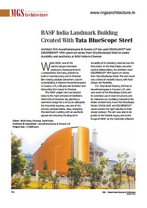 landmark building created with tata Bluescope steel