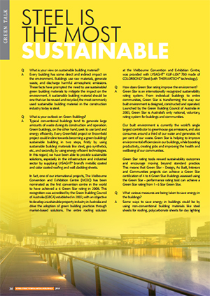 steel is the most sustainable solution