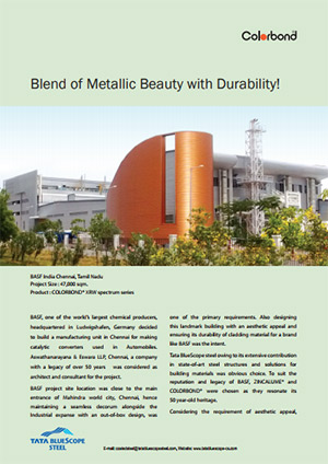 COLORBOND® Case Study BASF manufacturing unit in Chennai