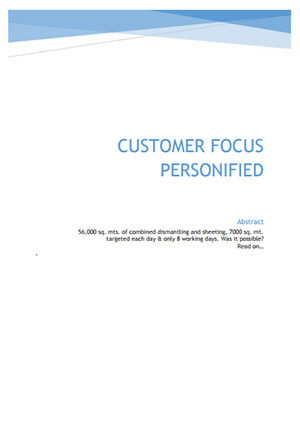 customer focus personified