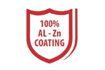 100% al-zn coated steel