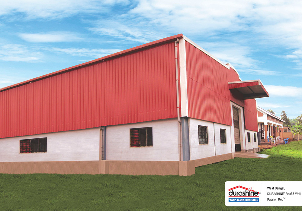 durashine roof & wall cladding in west bengal