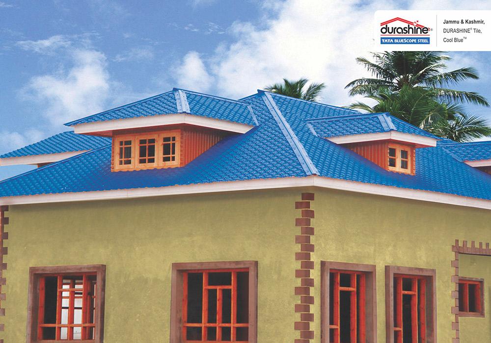 Durashine Steel Roofing Tile Tata Bluescope Steel