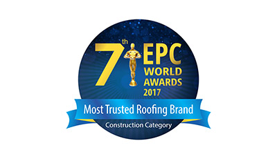 Most Trusted Roofing Brand under Construction category by the 7th EPC World