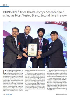 award received by durashine 2