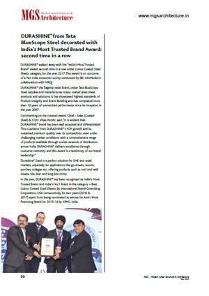 award received by durashine