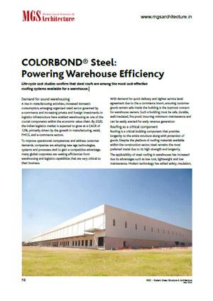colorbond steel powering warehouses