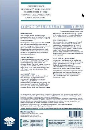 guidelines for zincalume steel