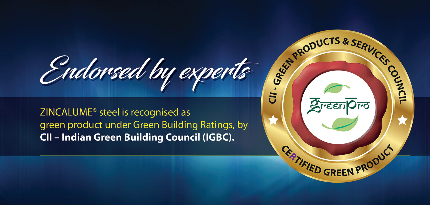 zincalume steel is recognised as cii green product