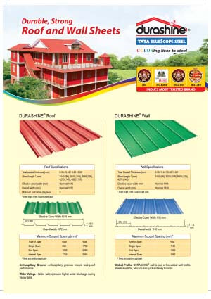 DURASHINE® Metal Roofing Sheets, Color Coated Sheets