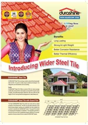 Durashine wider steel tile