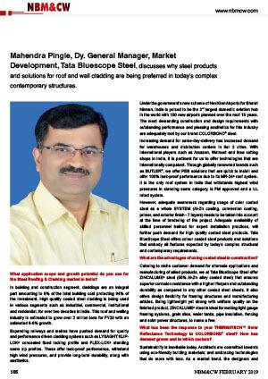 Tata bluescope steel in news